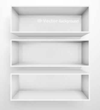 Simple Light Vector Presentation Shelf 05