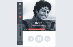 Clean Music Player Interface PSD Design