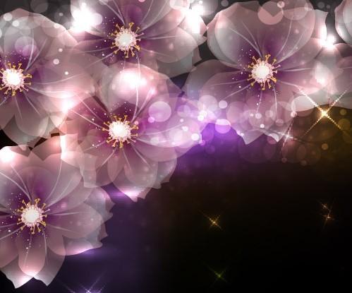 Fantastic Shining Vector Flowers 02