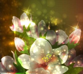 Fantastic Shining Vector Flowers 04