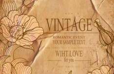 High Quality Vector Vintage Flower Background 03