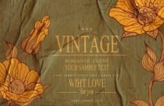 High Quality Vector Vintage Flower Background 04