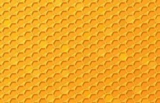 Simple Yellow Honeycomb Background Texture