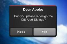 iOS Alert Dialog Interface PSD