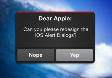 iOS Alert Dialog Interface PSD