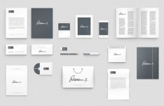 Clean Corporate Identity Mockup PSD