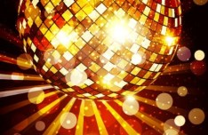 Fashion and Bright Vector Disco Background 02