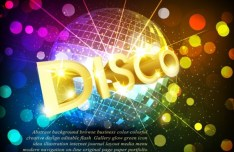 Fashion and Bright Vector Disco Background 03