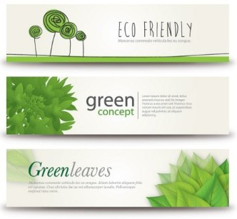 Green ECO Concept Vector Banners