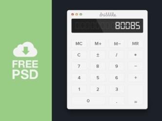 Flat Calculator Interface PSD