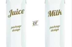 Juice & Milk Packages Vector Design
