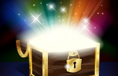 Vector Pirate Treasure Chest Full of Gold 02