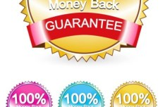 6 Sleek Money Back Guarantee Vector Badges