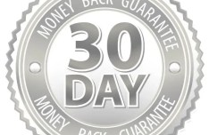 Grey 30 Day Money Back Guarantee Vector Badge