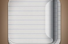 Paper Like iOS App Icon Templates PSD