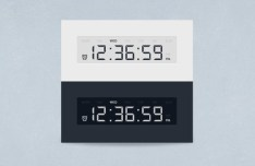 Digital Clock Widget Interface PSD