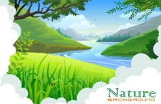 Vector Cartoon Nature Background 04