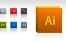 Adobe Product Icon Set PSD