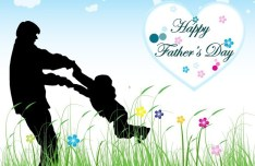 Happy Father's Day Card Template Vector