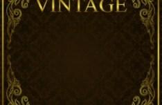 Vintage Golden Vector Floral Frames 01