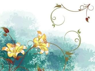 Vintage Watercolor Floral Background Vector