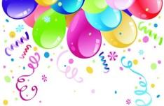 Colorful Holiday Balloons 02