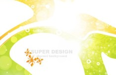 Retro Brightly Colored Abstract Vector Background 01
