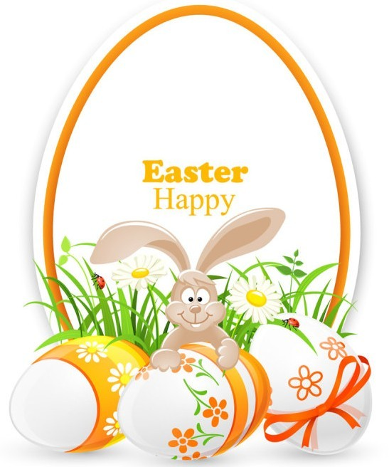 Elegant Vector Happy Easter Elements 03