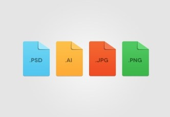 Flat Minimal File Format Icon Template PSD