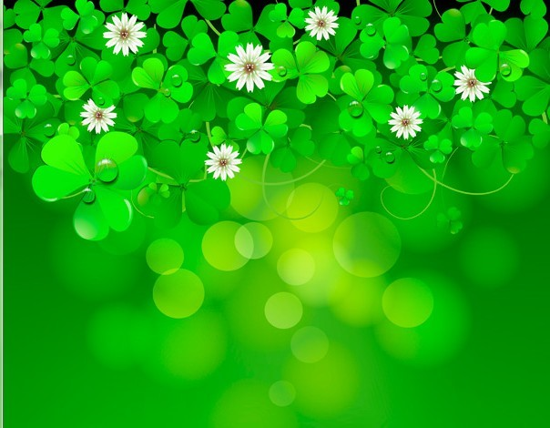 Green St.Patrick's Day Shamrock Background