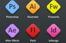 Sleek Adobe Product PSD Icons