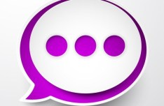 Smooth Paper-Like Chat Bubble Vector Labels 01