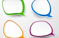 Smooth Paper-Like Chat Bubble Vector Labels 04