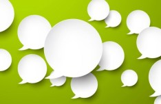 Smooth Paper-Like Chat Bubble Vector Labels 05