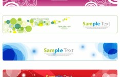 Clean and Fresh Vector Banners with Halo Background