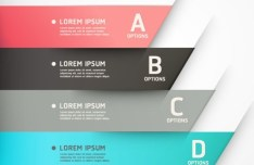 Colored Infographic Numeric Label 03