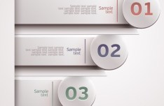 Colored Infographic Numeric Label 05