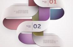 Colored Infographic Numeric Label 06