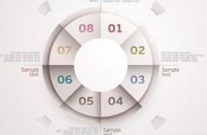 Colored Infographic Numeric Label 07