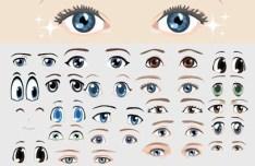Vector Cute Cartoon Eyes