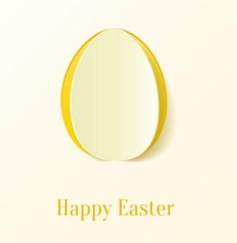 Vector Paper Shape Easter Egg Design 01