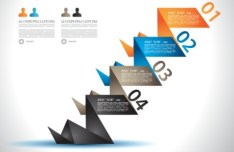 Vector Paper Shapes Origami Infographic 03