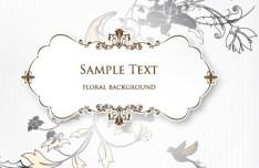 Clean and Elegant Vector Floral Frame 02