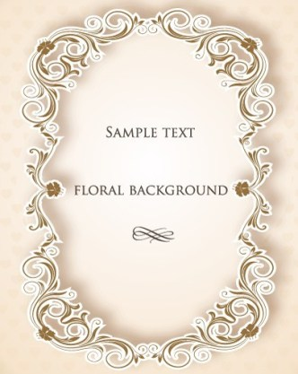 Clean and Vintage Floral Background Vector 01