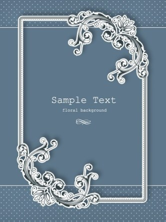 Clean and Vintage Floral Background Vector 02