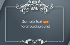 Clean and Vintage Floral Background Vector 03
