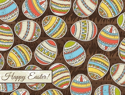 Colorful Easter Egg Background Vector 04