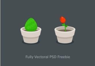 Flat PSD Bush Icon