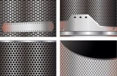Vector Glossy Pierced Steel Metal Background 02