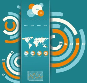 Vector Infographic and Chart Design Elements 03